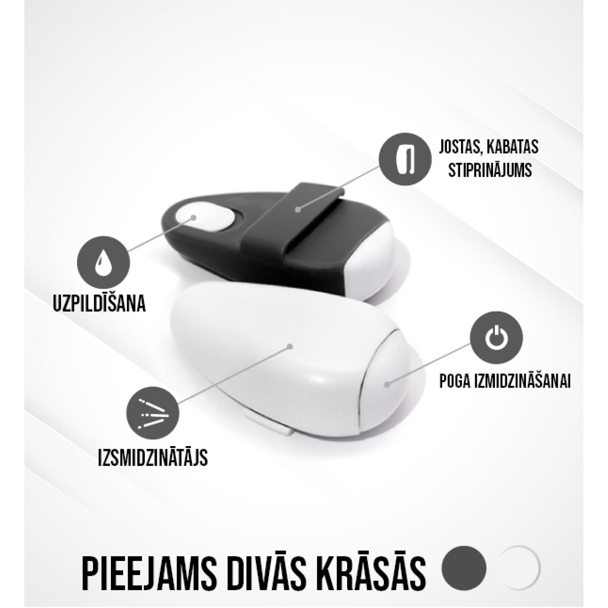 Portatīva roku dezinfekcijas ierīce, balta