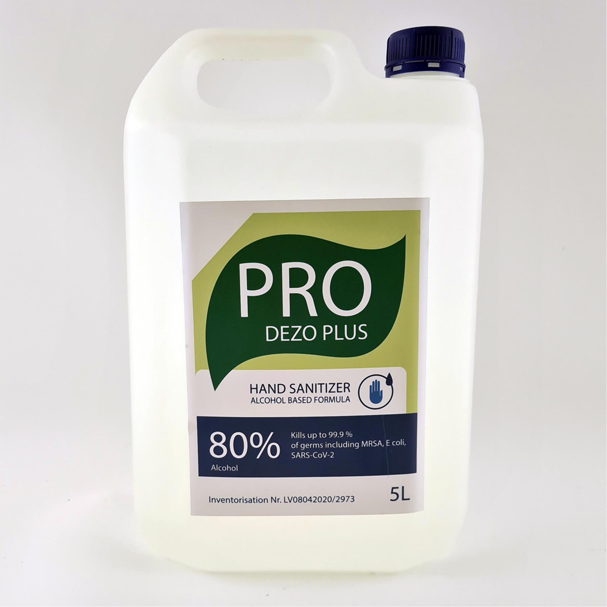 Dezinfekcijas līdzeklis DEZO PRO PLUS 80%, 5l