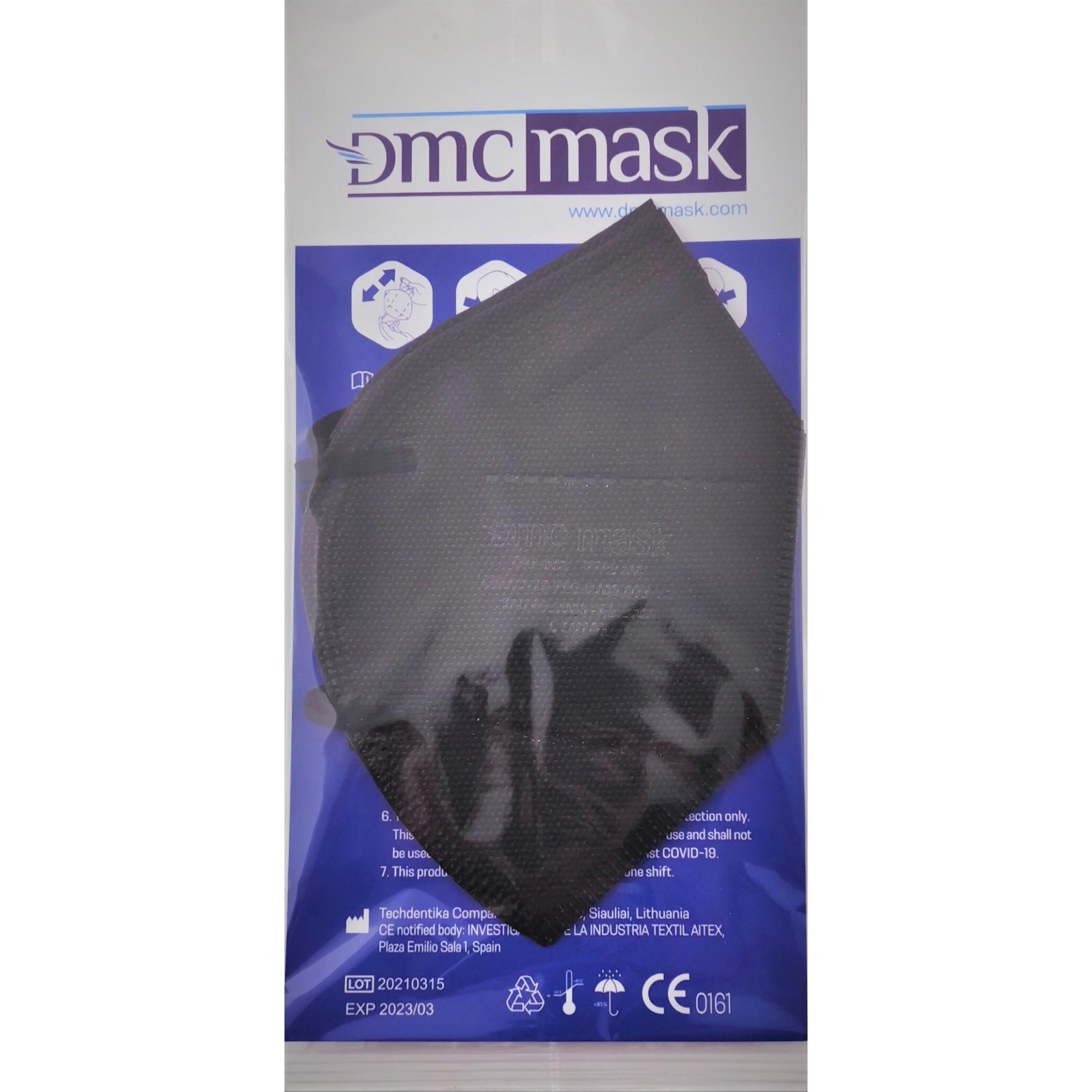 Respirators-aizsargmaska DMC DM-002 B (2 gab., FFP2, melnas)